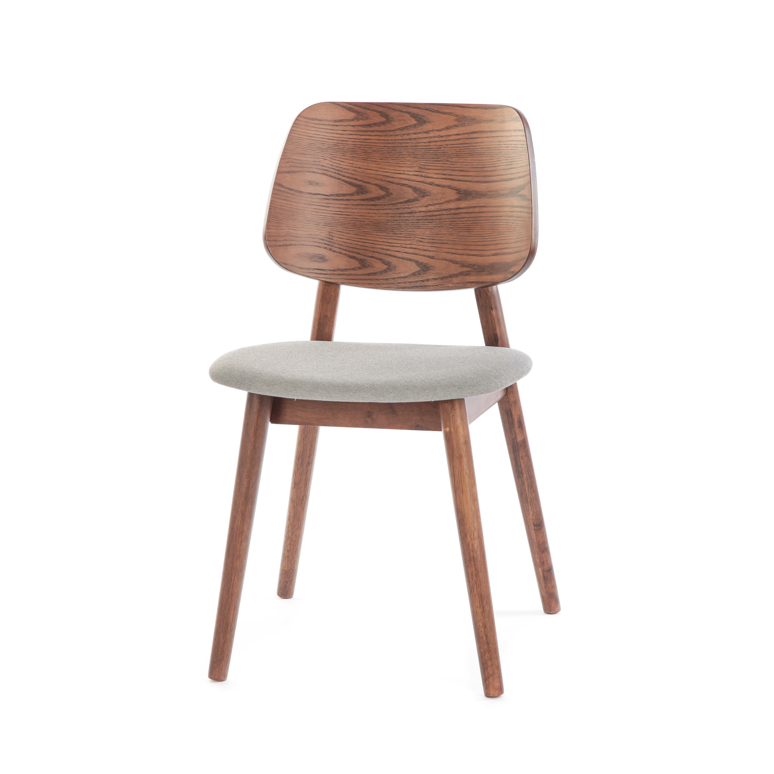 Стул LuusИнтерьерные<br>Простой стиль этой модели делает ее очень функциональной – стул Luus подойдет как для дополнения мебельного ансамбля гостиной комнаты, так и для создания уютной и комфортной обстановки на кухне или в столовой. Стул выполнен в классическом стиле и спокойной цветовой гамме.<br><br><br> На выбор предлагаются различные варианты расцветки под разные породы дерева, однако сам каркас стула изготавливается из прочного и надежного массива ясеня. Изделия из дерева высоко ценятся во многих интерьерных стил...<br><br>stock: 4<br>Высота: 81,5<br>Ширина: 46<br>Глубина: 54,5<br>Цвет ножек: Орех<br>Цвет спинки: Орех<br>Материал ножек: Массив ясеня<br>Материал спинки: Фанера, шпон ясеня<br>Материал сидения: Полиэстер<br>Цвет сидения: Серый<br>Тип материала спинки: Фанера<br>Тип материала сидения: Ткань<br>Тип материала ножек: Дерево