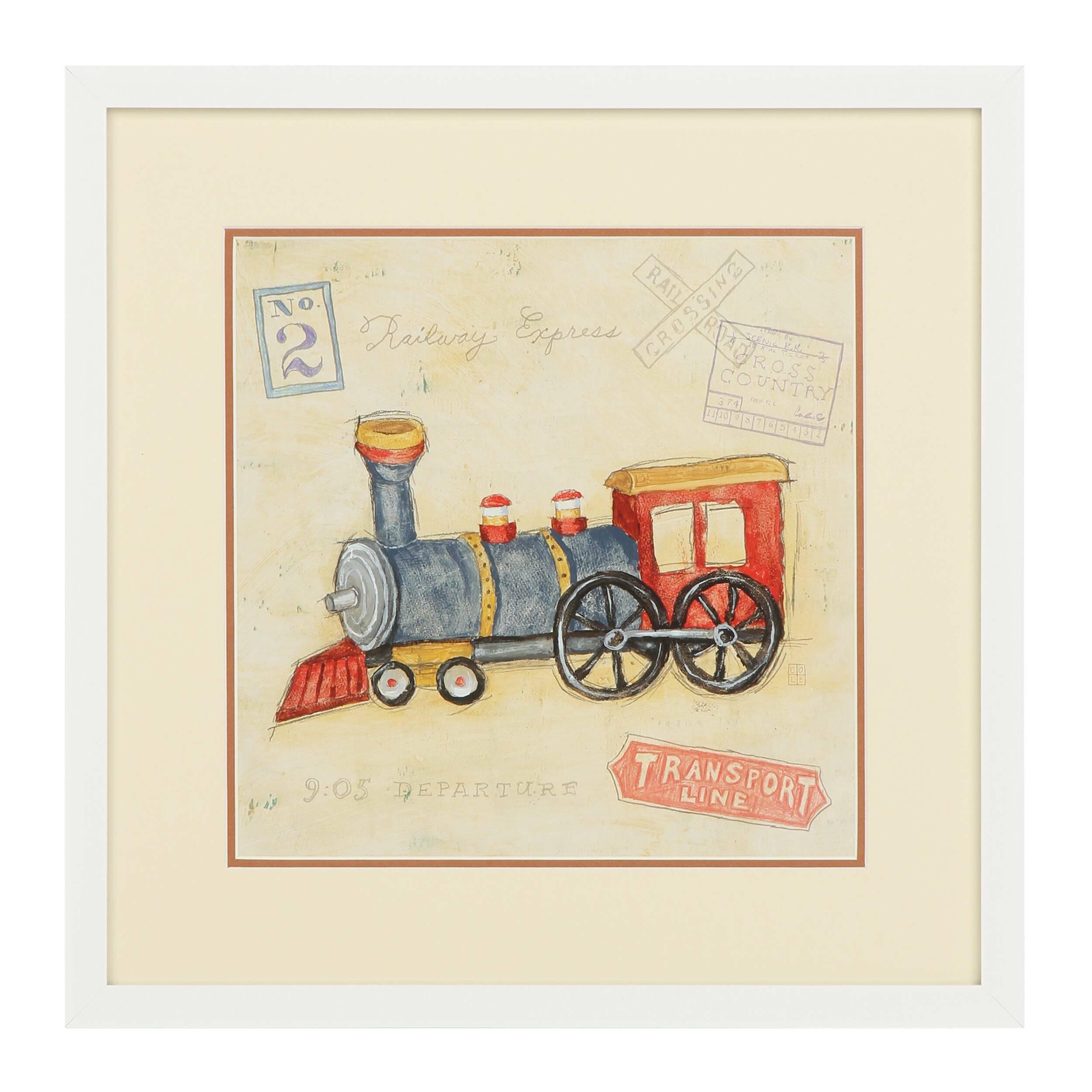 Постер Vintage Locomotive