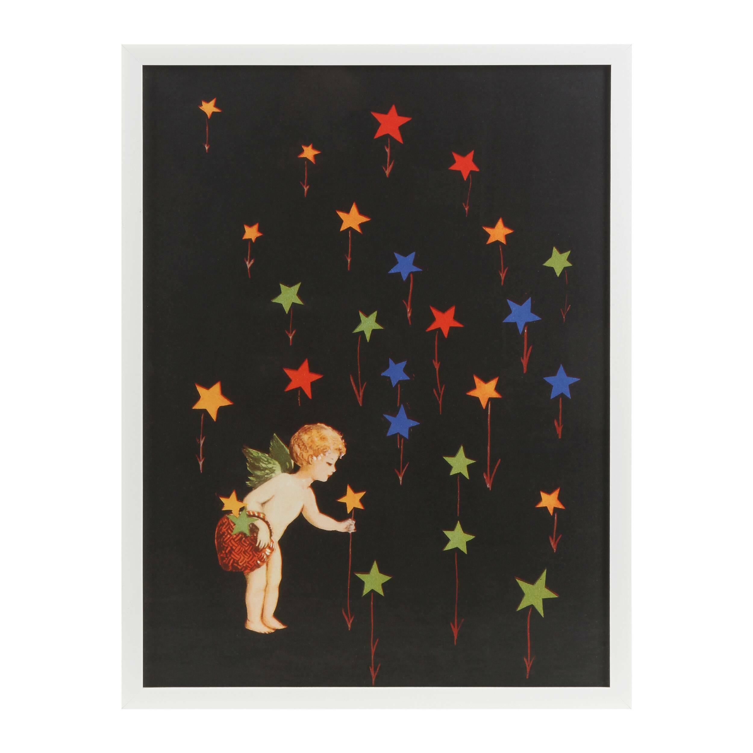 Постер Star GardenКартины<br><br><br>stock: 5<br>Ширина: 47,6<br>Цвет: Черный<br>Длина: 62,6<br>Цвет дополнительный: Разноцветный