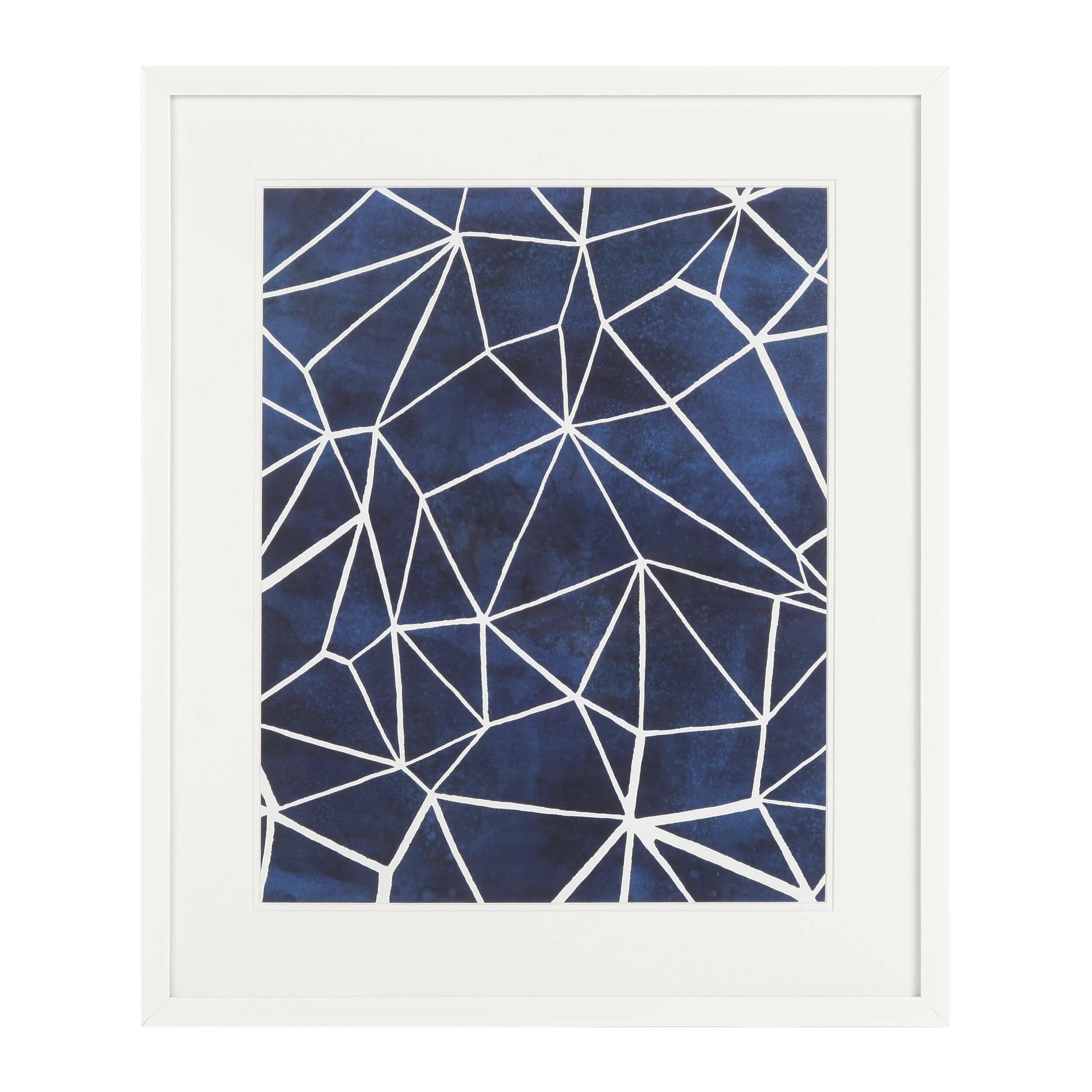 Постер Indigo 1Картины<br><br><br>stock: 12<br>Ширина: 55,8<br>Цвет: Синий<br>Длина: 65,8<br>Цвет дополнительный: Белый