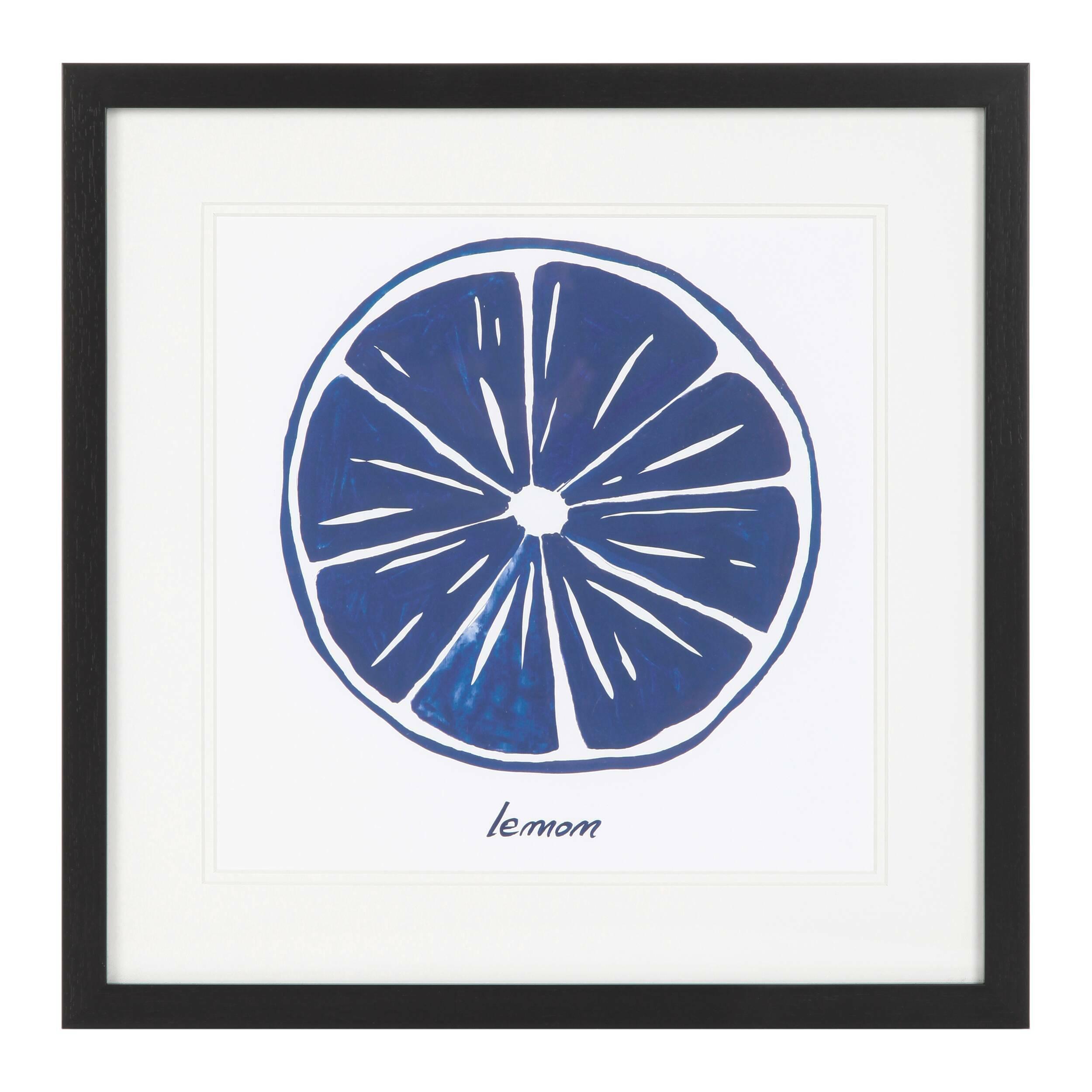 Постер Blue LemonКартины<br><br><br>stock: 10<br>Ширина: 42,6<br>Цвет: Синий<br>Длина: 42,6