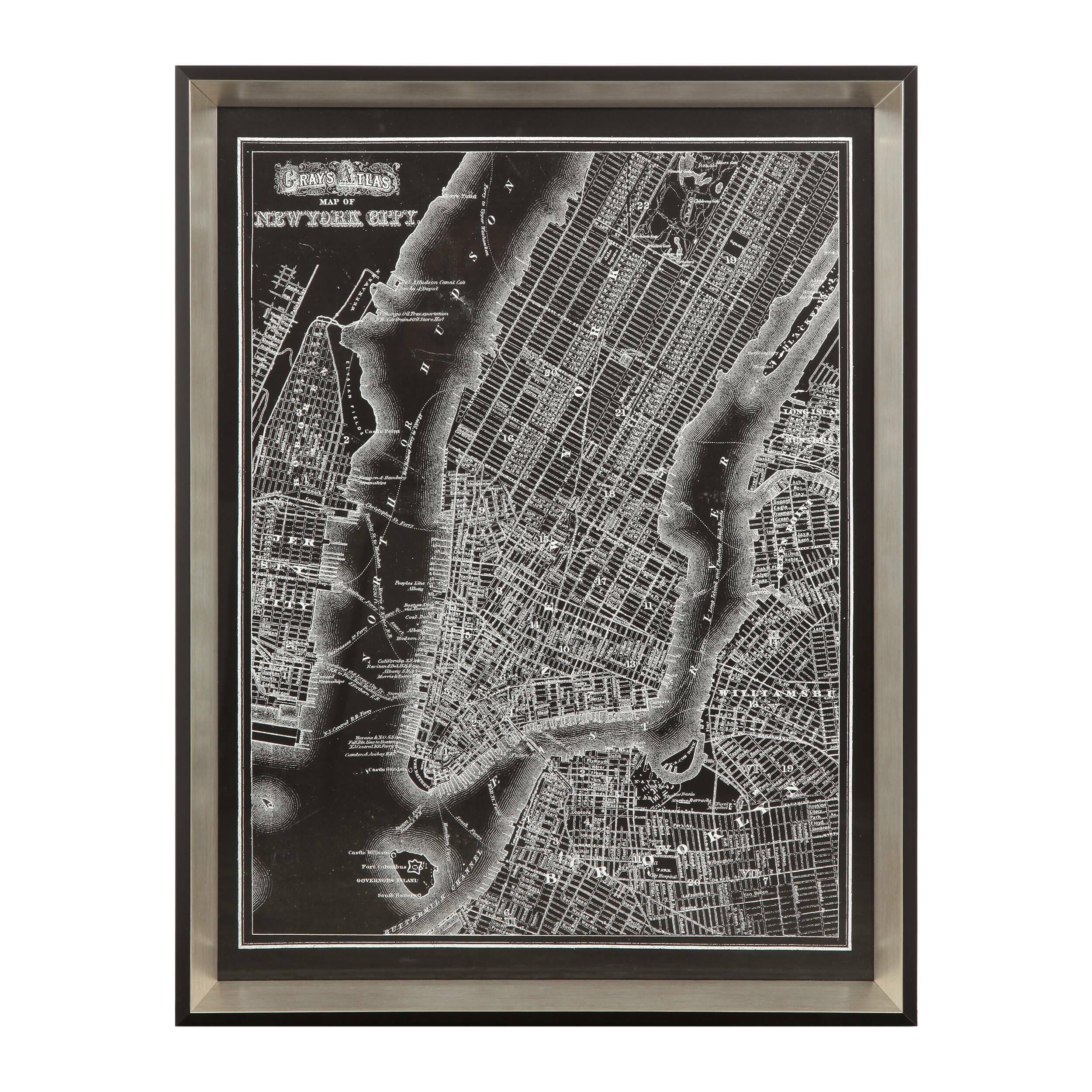 Постер New York CityКартины<br>Волшебный вид сверху на городской пейзаж способен заворожить любого. А в данном случае представлен не просто вид сверху, а схематичное изображение районов и улиц Нью-Йорка. Дизайнерский постер New York City (Нью-Йорк Сити) представляет собой оригинальную стилизацию карты города – отличное дополнение для современного интерьера.<br><br><br> Постер имеет средние размеры и подойдет для комнаты с любыми габаритами. А стильная черно-серая цветовая гамма будет гармонировать как с темным, так и со све...<br><br>stock: 6<br>Ширина: 49,7<br>Цвет: Черный<br>Длина: 65,2
