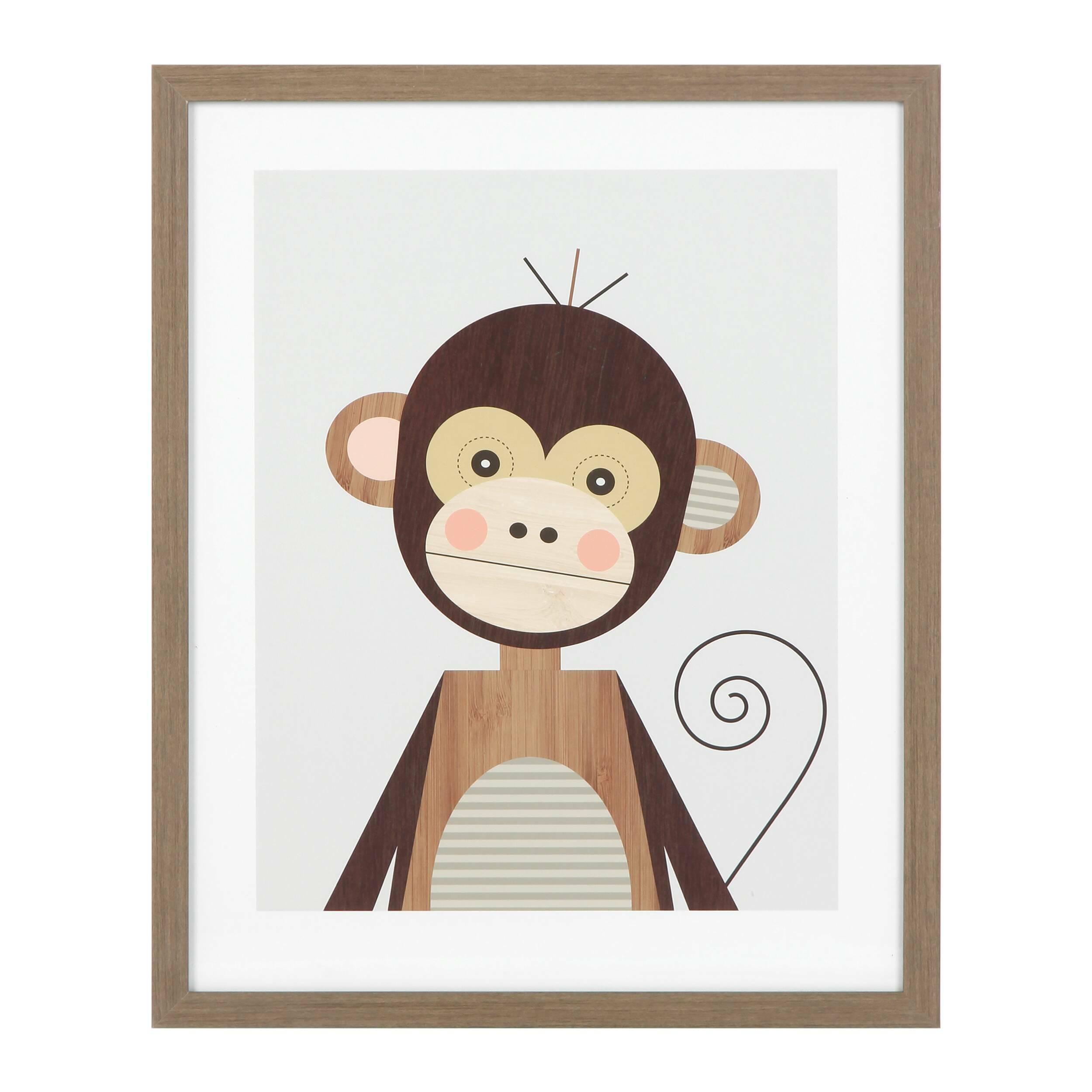 Постер MonkeyКартины<br><br><br>stock: 5<br>Ширина: 43,2<br>Цвет: Разноцветный<br>Длина: 53,2