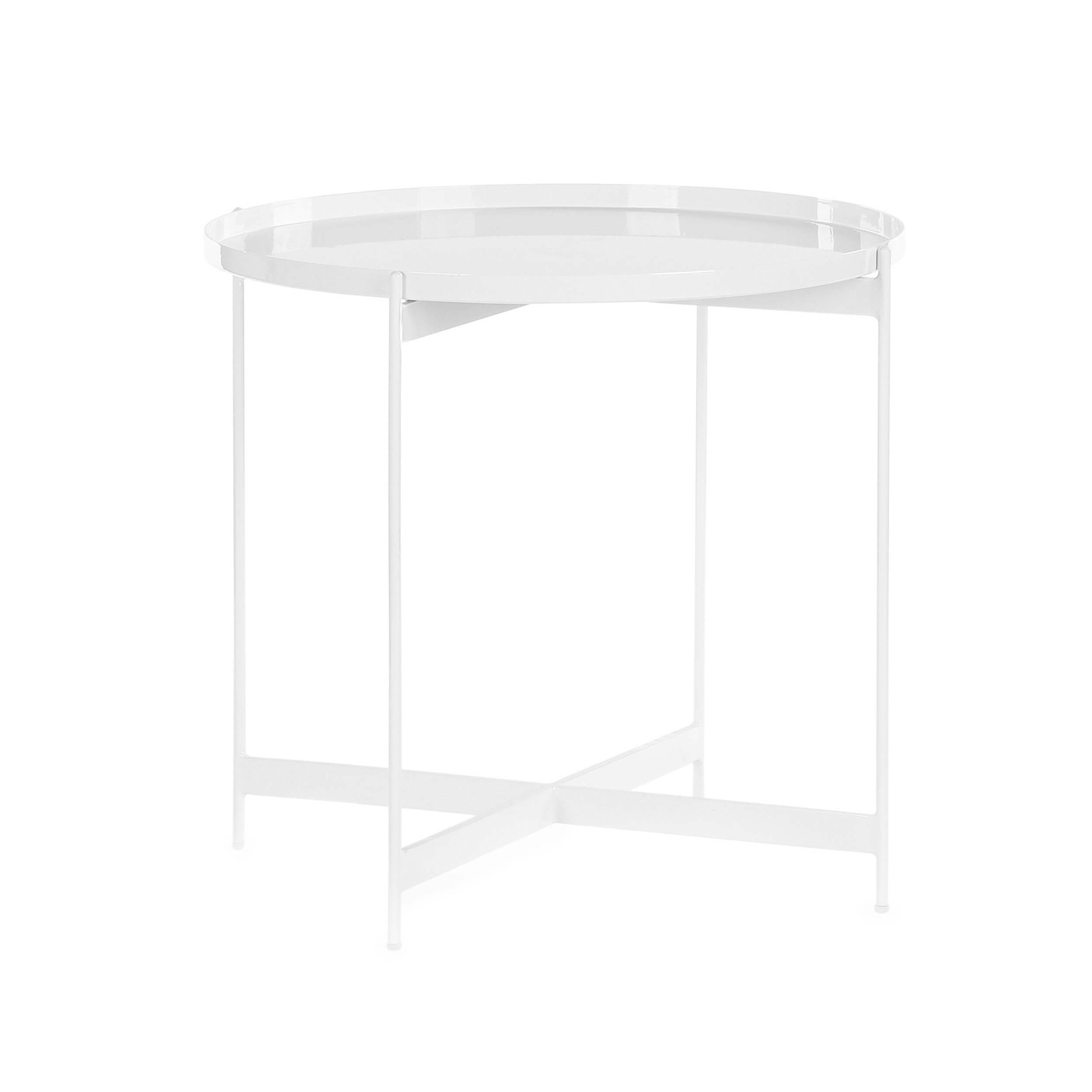 Кофейный стол SouillacКофейные столики<br>Если вы уже давно ищете стол, с которого ничего не упадет, не прольется и не скатится на пол, тогда дизайнерский кофейный стол Souillac станет прекрасным решением. Главная особенность этой модели – в высоких бортиках по всей окружности, благодаря которым можно не бояться, что любимый кот что-то столкнет со стола или кофе прольется на новый паркет.<br><br><br> Для изготовления столика дизайнеры выбрали сталь – надежный, прочный материал, за счет которого изделие на многие десятки лет сохранит пре...<br><br>stock: 15<br>Высота: 52<br>Диаметр: 57<br>Тип материала каркаса: Сталь<br>Цвет каркаса: Белый