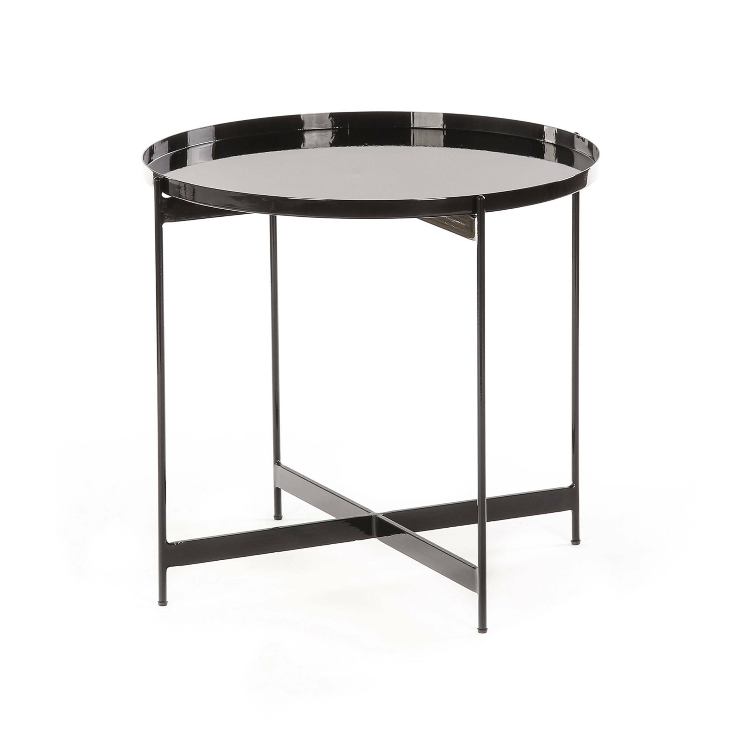 Кофейный стол SouillacКофейные столики<br>Если вы уже давно ищете стол, с которого ничего не упадет, не прольется и не скатится на пол, тогда дизайнерский кофейный стол Souillac станет прекрасным решением. Главная особенность этой модели – в высоких бортиках по всей окружности, благодаря которым можно не бояться, что любимый кот что-то столкнет со стола или кофе прольется на новый паркет.<br><br><br> Для изготовления столика дизайнеры выбрали сталь – надежный, прочный материал, за счет которого изделие на многие десятки лет сохранит пре...<br><br>stock: 11<br>Высота: 52<br>Диаметр: 57<br>Тип материала каркаса: Сталь<br>Цвет каркаса: Черный