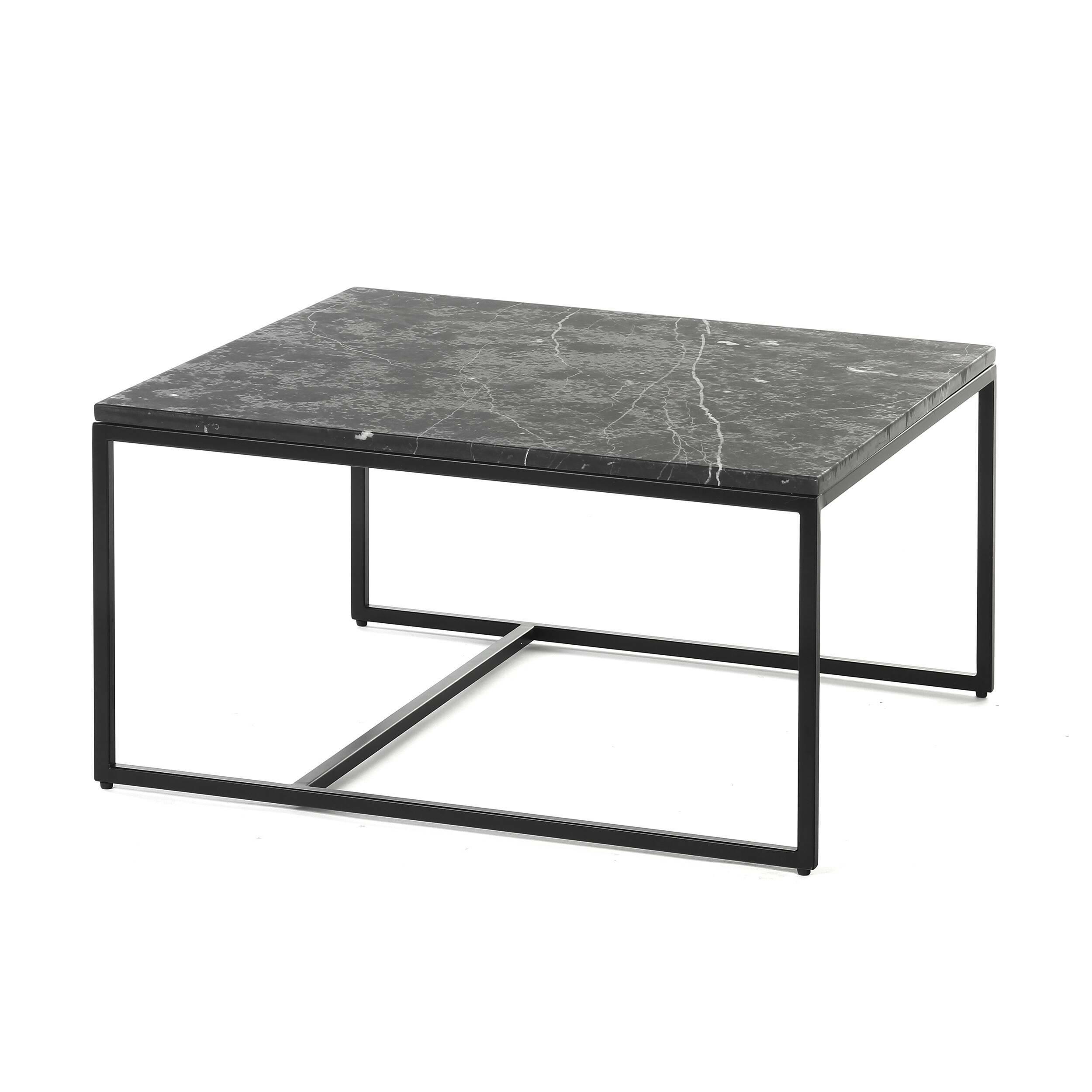 Кофейный стол Copenhagen 70х70Кофейные столики<br>Дизайнерский кофейный стол Copenhagen 70x70 поможет создать в помещении уютную атмосферу для легкого и непринужденного общения. Стол обладает стильным, геометричным дизайном, который способен гармонично вписаться даже в высокотехнологичный хай-тек.<br><br><br> Натуральный камень в интерьере пользуется особенной любовью – благодаря такой мебели комната выглядит стильно и изысканно, в ней создается совершенно неповторимая атмосфера благополучия и хорошего вкуса. Кроме того, такие изделия очень н...<br><br>stock: 8<br>Высота: 36,5<br>Ширина: 70<br>Длина: 70<br>Цвет ножек: Черный<br>Цвет столешницы: Черный<br>Тип материала столешницы: Мрамор<br>Тип материала ножек: Сталь
