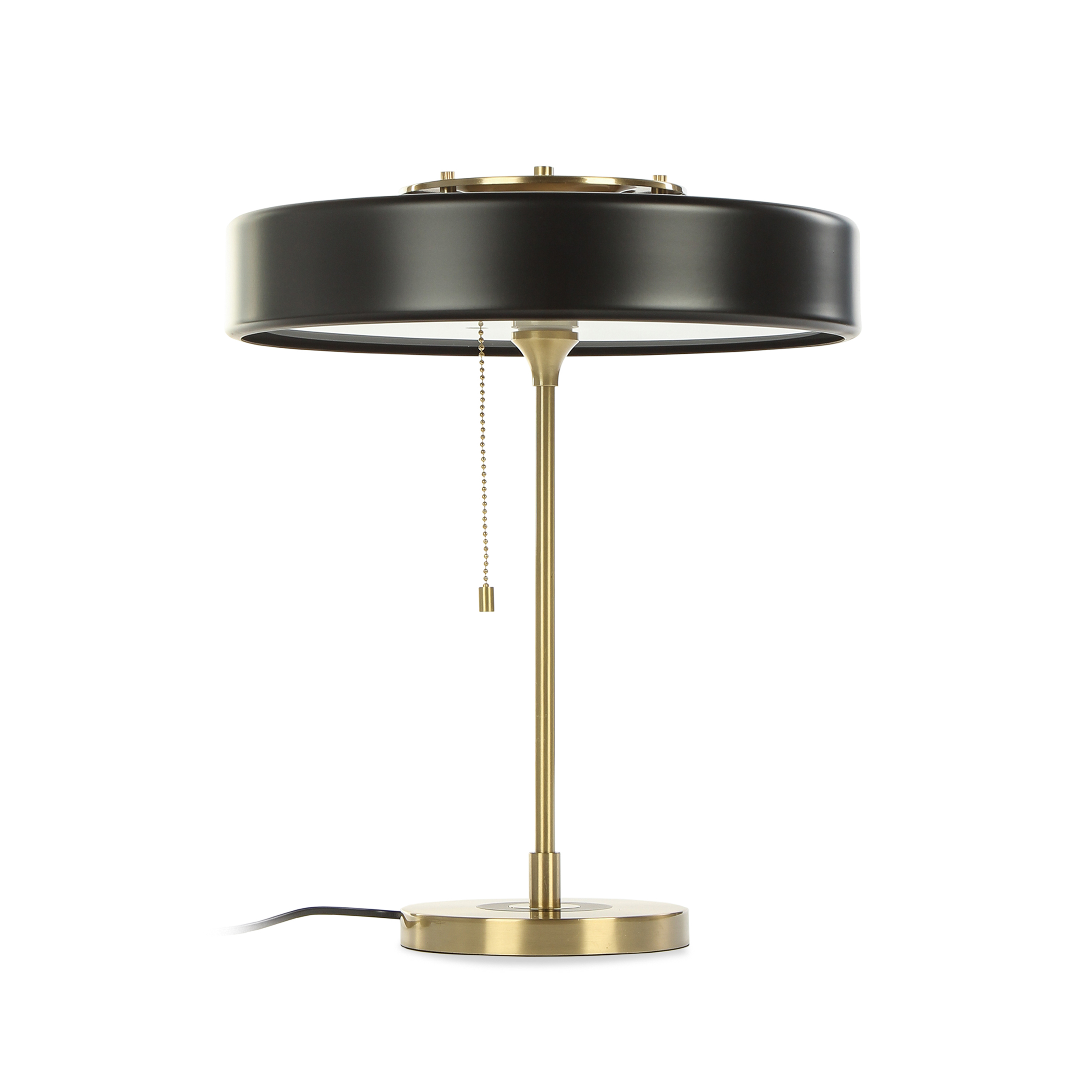 Настольный светильник JaanНастольные<br>Дизайнерский настольный светильник Jaan (Яан) – это элегантное изделие в современном стиле, в котором присутствуют утонченность и изящные формы. Модель обладает красивыми, гармоничными пропорциями и плавными чертами, которые придадут комнате еще больше домашнего уюта и позитивной энергии.<br><br><br> Модель светильника изготавливается из современных материалов, что делает ее идеальным вариантом даже для ультрасовременной интерьерной стилистики. Полупрозрачный абажур дает мягкий рассеянный свет...<br><br>stock: 3<br>Высота: 42<br>Диаметр: 35<br>Материал абажура: Алюминий<br>Материал арматуры: Металл<br>Мощность лампы: 40<br>Тип лампы/цоколь: E14<br>Цвет абажура: Черный<br>Цвет арматуры: Черный