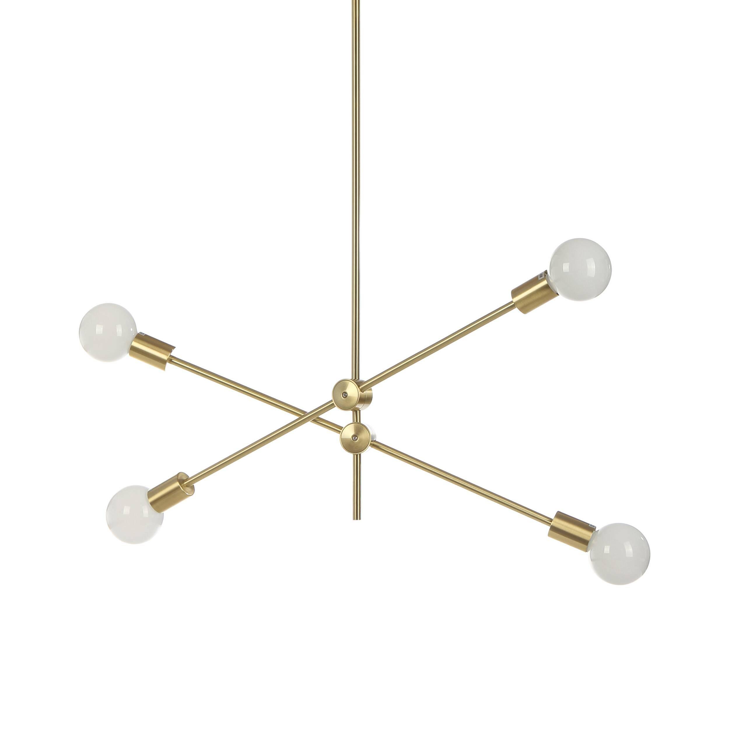 Потолочный светильник Nook, 4 лампыПотолочные<br>В современных интерьерных проектах все чаще используются минималистичные формы и геометрический формат окружающих элементов. Дизайнерский потолочный светильник Nook, 4 лампы – это идеальная модель, созданная в соответствии с этой тенденцией. Nook (Нук) представляет собой оригинальную композицию, которая напоминает геометрический инструмент. Такой светильник будет отличным дополнением в дизайне домашней комнаты.<br><br><br> Для создания этой модели дизайнеры выбрали один из самых надежных матер...<br><br>stock: 7<br>Ширина: 95<br>Длина: 215<br>Количество ламп: 4<br>Материал арматуры: Металл<br>Мощность лампы: 4<br>Тип лампы/цоколь: E27+LED<br>Цвет арматуры: Золотой