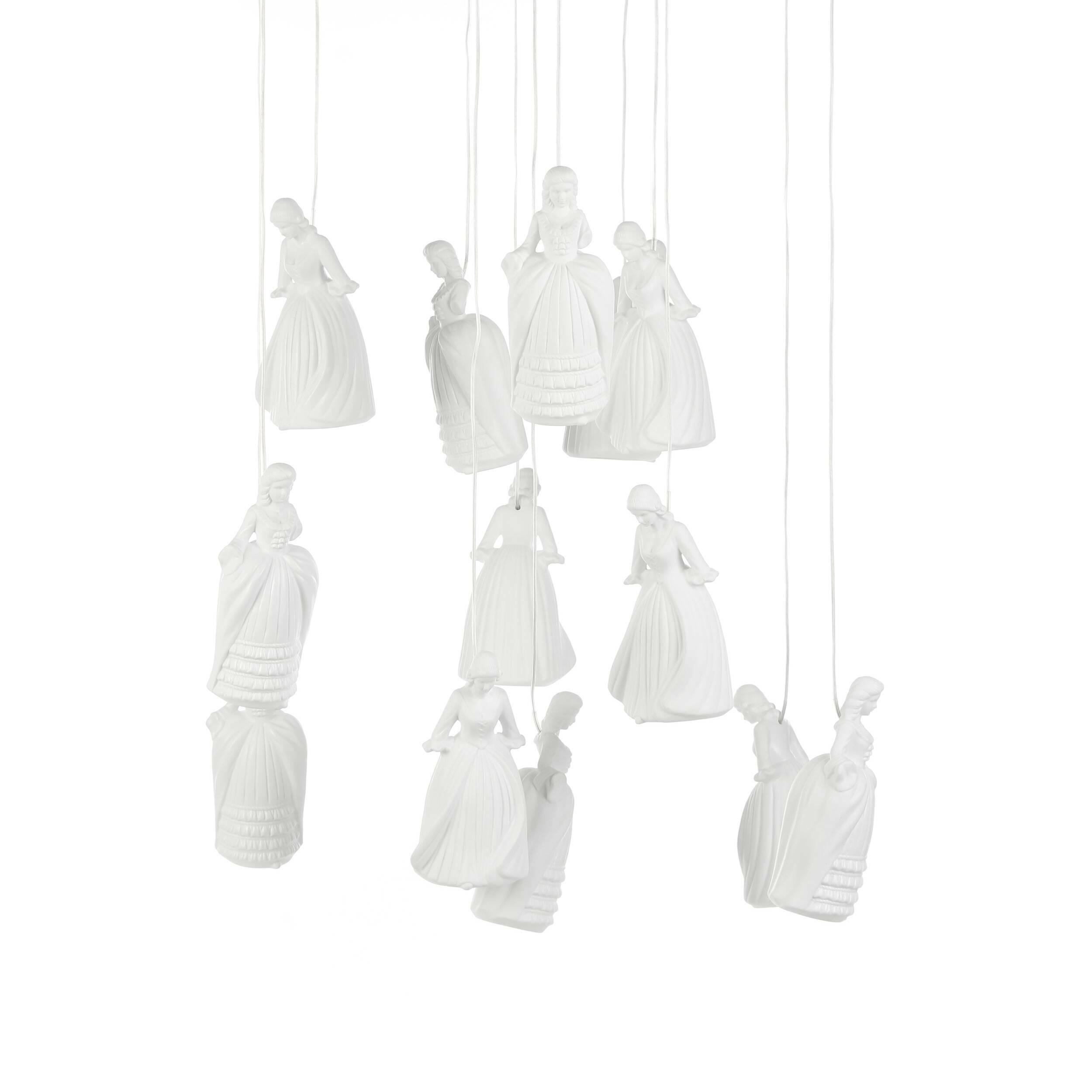 Подвесной светильник Forest Nymphs, 13 лампПодвесные<br>С помощью правильно подобранных элементов интерьера любая комната может стать настоящим произведением искусства. Дизайнерский подвесной светильник Forest Nymphs, 13 ламп – это восхитительное изделие, которое вмиг привлечет к себе внимание и станет настоящей изюминкой всей обстановки. Модель представляет собой необычную композицию из фигурных абажуров, которые даже при выключенном свете будут украшать собой помещение.<br><br><br> Эта модель светильника изготавливается из керамики – идеального м...<br><br>stock: 3<br>Высота: 180<br>Диаметр: 80<br>Количество ламп: 13<br>Материал абажура: Керамика<br>Материал арматуры: Металл<br>Мощность лампы: 2<br>Тип лампы/цоколь: G9 LED<br>Цвет абажура: Белый