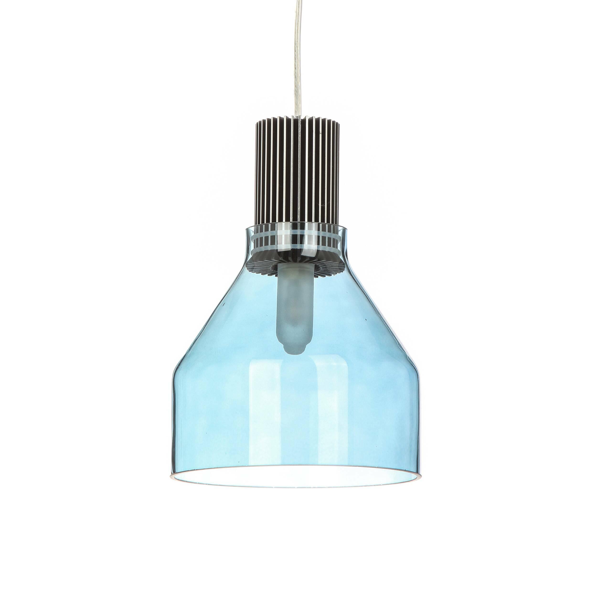 Подвесной светильник JovyПодвесные<br>В современном интерьере возможно все – нет такой задумки, которую дизайнеры не смогли бы воплотить в жизнь. Особенно интересно эта тенденция отражается на дизайне источников освещения, которые становятся все более замысловатыми, эпатажными и удивительно красивыми в своей простоте. Стильный дизайнерский подвесной светильник Jovy (Джови) является ярким представителем современных тенденций в мире интерьерной моды.<br><br><br> Эта модель изготовлена из прочных, практичных материалов, которые обесп...<br><br>stock: 7<br>Высота: 24<br>Диаметр: 18<br>Материал абажура: Стекло<br>Материал арматуры: Алюминий<br>Мощность лампы: 5<br>Тип лампы/цоколь: G9 LED<br>Цвет абажура: Дымчато-голубой