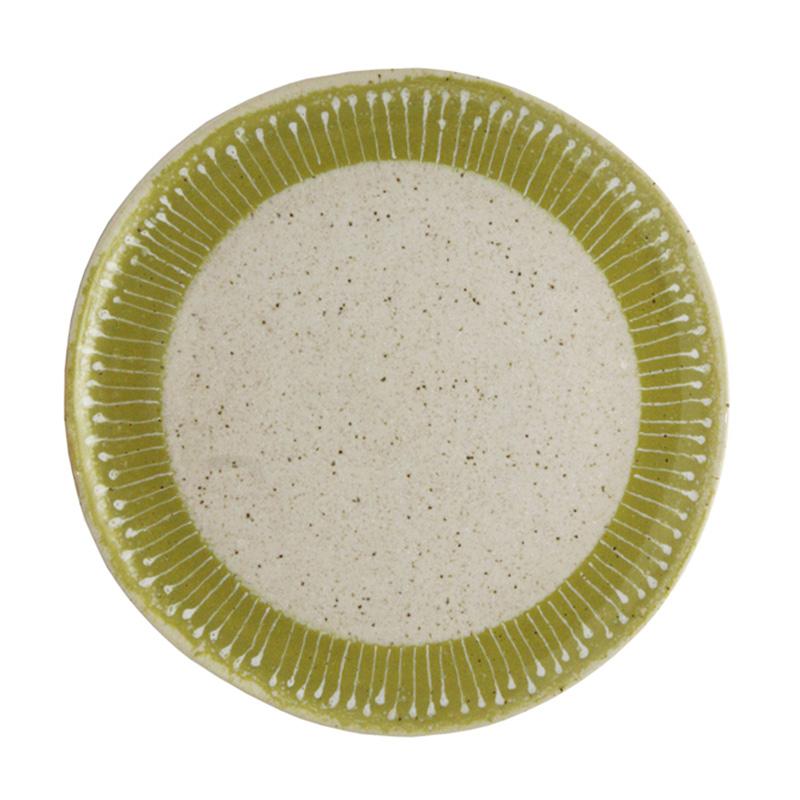 Тарелка PANTANAL (DTC027)Посуда<br>Артикул: DTC027. Тарелка из стильной линейки PANTANAL придется по вкусу любителям предметов сервировки с акцентом на естественность и оригинальность. Удачное цветовое и стилевое решение - это единение с природой и уникальность мировосприятия. Дизайн: DaTerra, Португалия.<br><br>stock: 26<br>Высота: 1<br>Материал: Керамика<br>Цвет: Зеленый<br>Размер: None<br>Диаметр: 21<br>Страна происхождения: Португалия