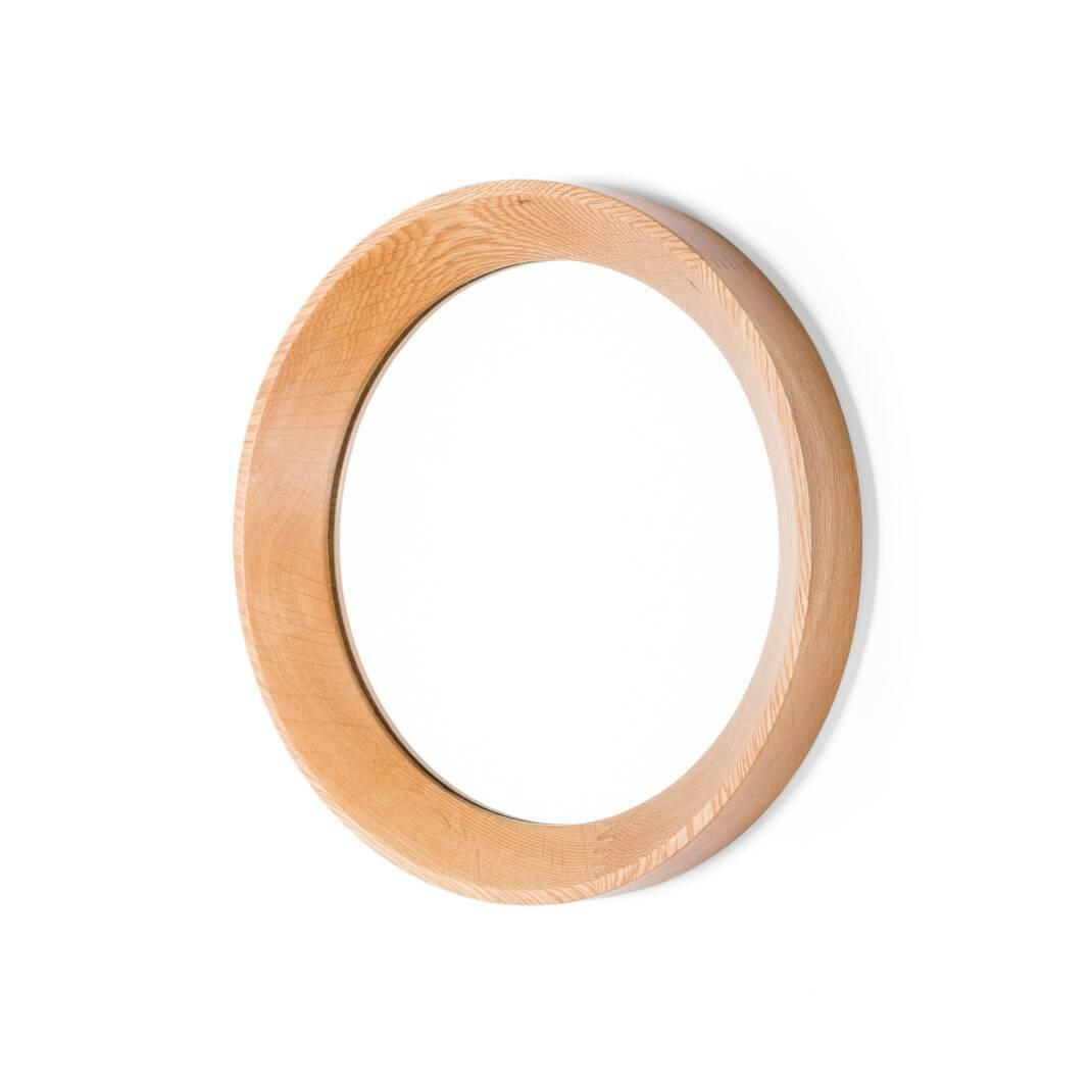 Купить Настенное зеркало Velodrome круглое, Cosmo, Натуральный/Natural, Дуб белый