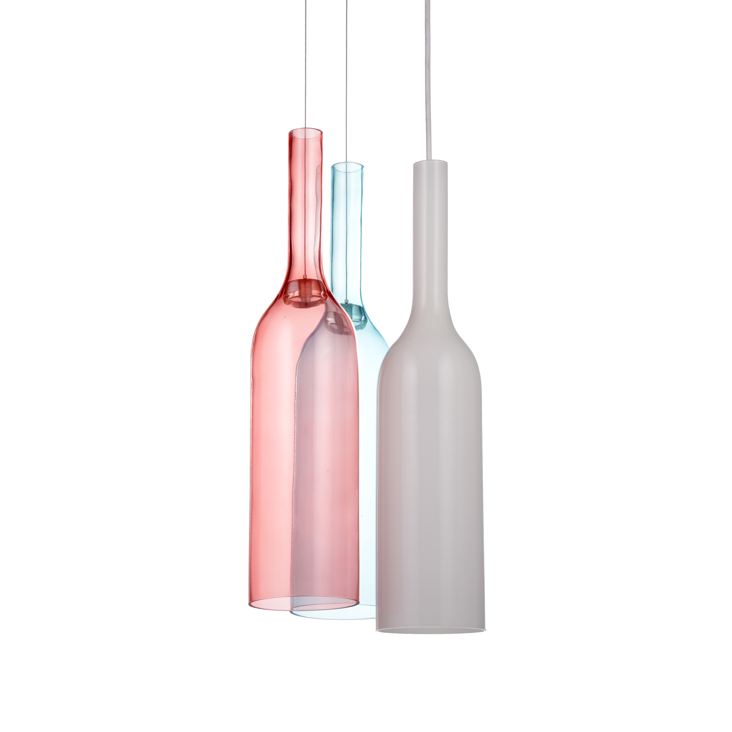 Подвесной светильник Jar RGB 3 лампыПодвесные<br>Кредо компании Lasvit, подарившей нам коллекцию подвесных светильников Jar RGB: «Наша задача — превратить стекло в не имеющие аналогов дизайнерские светильники, от которых у вас обязательно захватит дух».<br> <br> Подвесной светильник Jar RGB 3 лампы выполнен в особой технике выдувания стекла и несет в себе концепцию цветовой модели RGB (аббревиатура английских слов Red, Green, Blue — красный, зеленый, синий). Светильники сделаны из опалового стекла, благодаря чему свет качественно не меняется, о...<br><br>stock: 5<br>Высота: 180<br>Диаметр: 30<br>Количество ламп: 1<br>Материал абажура: Стекло<br>Мощность лампы: 40<br>Ламп в комплекте: Нет<br>Напряжение: 220<br>Тип лампы/цоколь: E27<br>Цвет абажура: Разноцветный