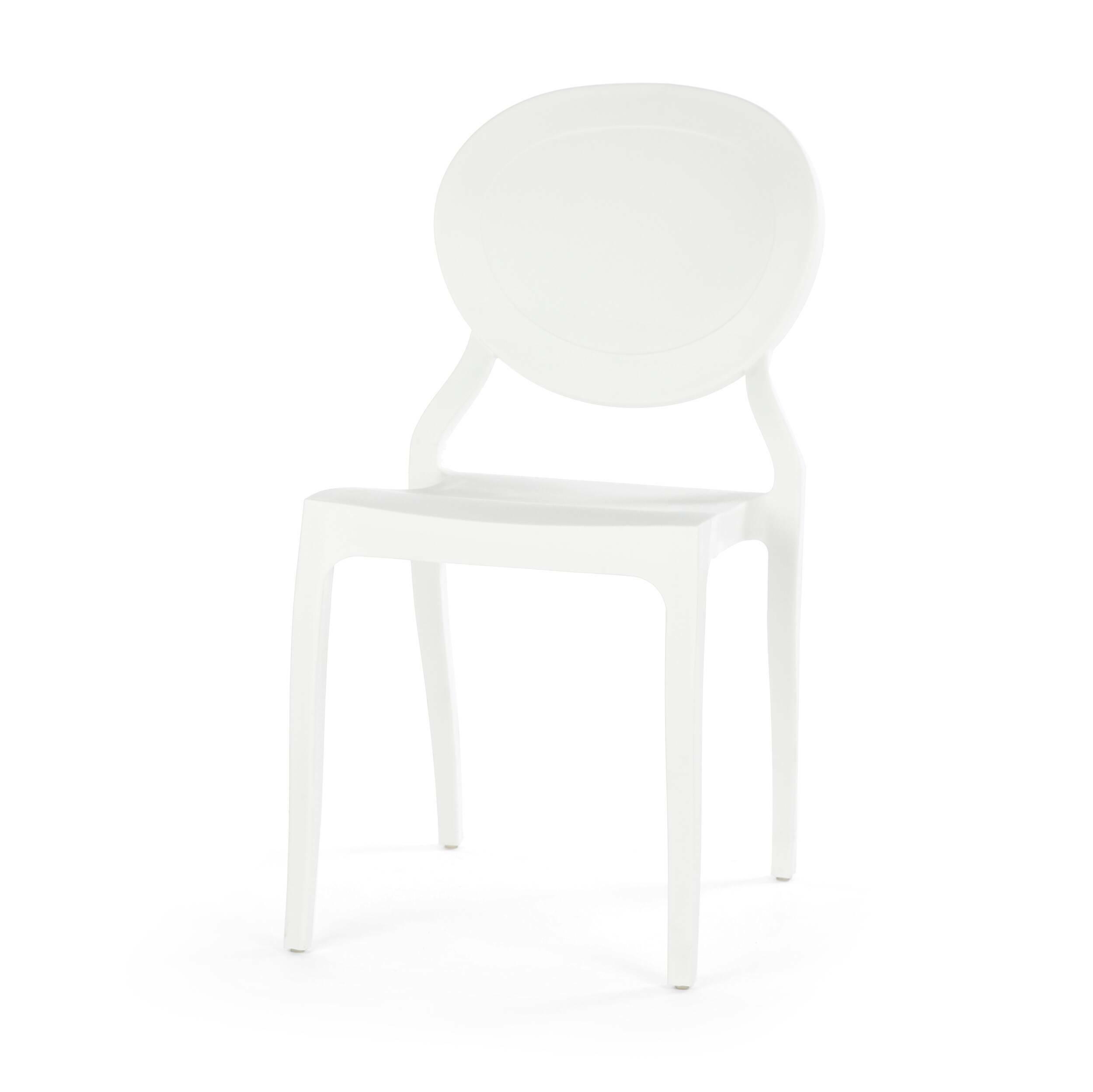 Стул Romola StackableИнтерьерные<br>Дизайнерский одноцветный яркий стул Romola Stackable (Ромола Стэкейбл) из полипропилена от Cosmo (Космо).<br><br>     Этот стул настолько простой и одновременно необычный, что его трудно однозначно отнести к конкретному стилю. Он великолепно сочетается с модерном и классикой, прекрасно вписывается в китч и минимализм, подходит для индустриального направления. Такая универсальность достигается благодаря сочетанию формы и материала.<br><br><br>     Ножки слегка изогнуты, фигурной формы сиденье и круглая ...<br><br>stock: 20<br>Высота: 82<br>Высота сиденья: 44<br>Ширина: 42<br>Глубина: 55,5<br>Тип материала каркаса: Полипропилен<br>Цвет каркаса: Белый