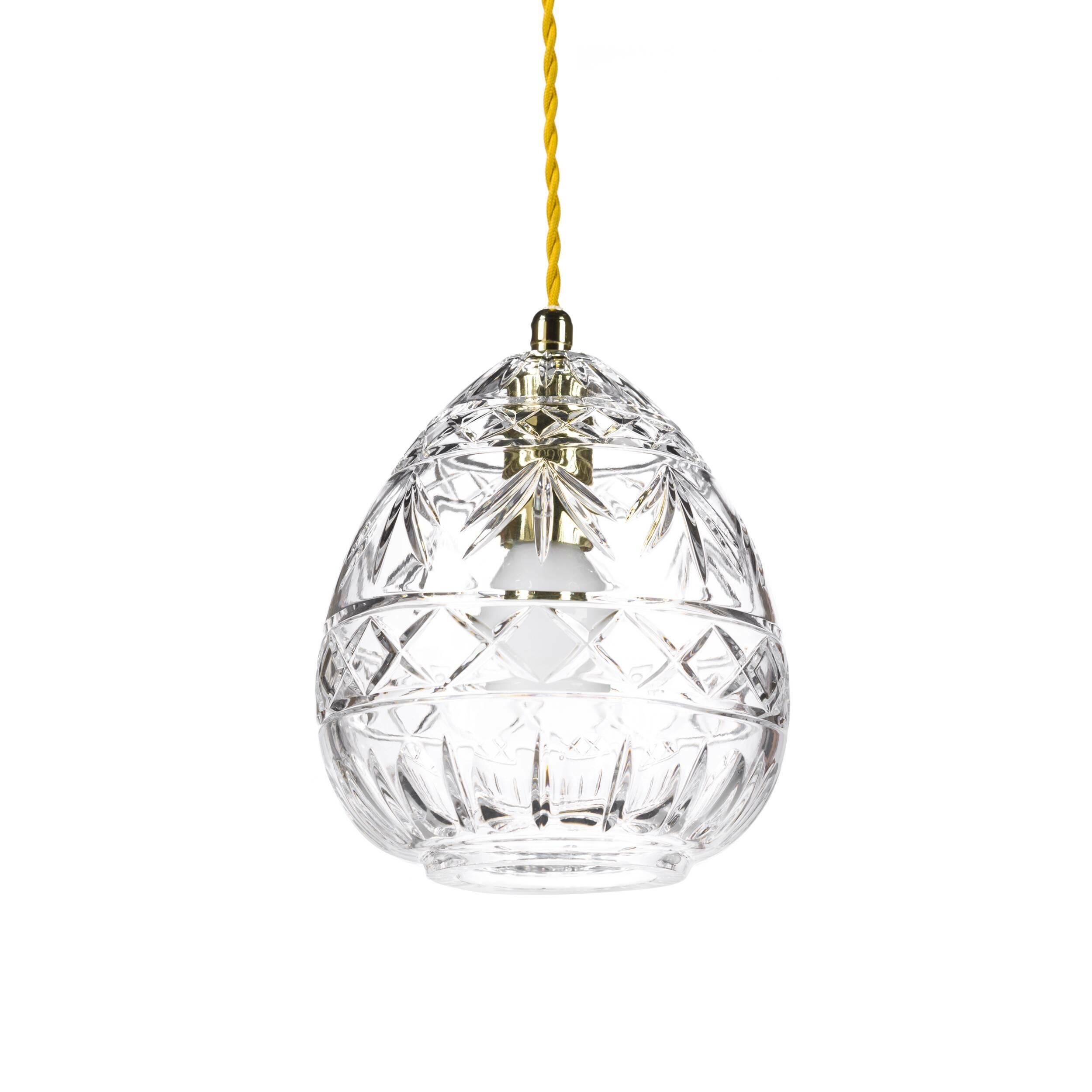 Подвесной светильник Crystal PithosПодвесные<br>«А что, позвольте поинтересоваться, ваза забыла у вас на потолке? И почему ко всему прочему она светит?»<br> <br> А потому, что дизайнеры подвесного светильника Crystal Pithos  — большие виртуозы в своем деле. Материал, цвет, объемный узор — все это прямая отсылка к хрустальным вазам, которые по-прежнему хранятся у многих из нас. Но глядя на них никто не ожидал, что из них вышел бы отличный дизайнерский светильник! Свет, проходящий сквозь стенки изделия, изящно преломляется в гранях рисунка. Необ...<br><br>stock: 0<br>Высота: 180<br>Диаметр: 15<br>Количество ламп: 1<br>Материал абажура: Стекло<br>Мощность лампы: 40<br>Ламп в комплекте: Нет<br>Напряжение: 220<br>Тип лампы/цоколь: E14<br>Цвет абажура: Прозрачный