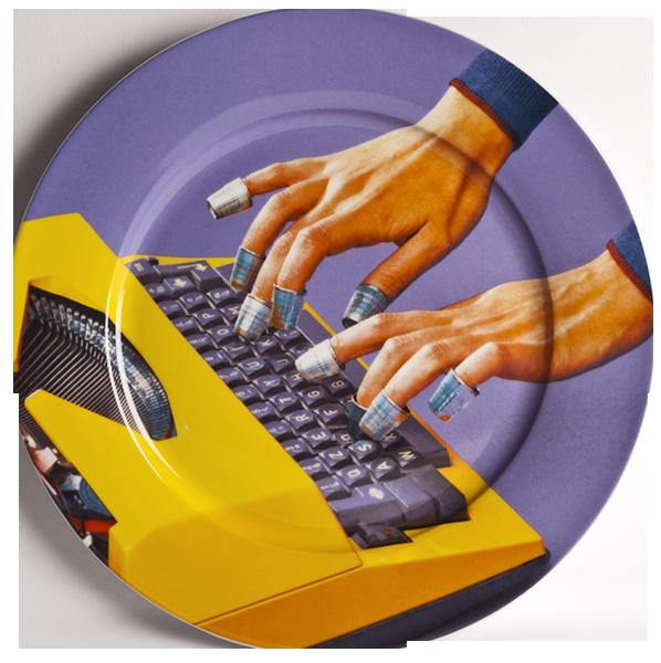 Тарелка TypewriterПосуда<br>Тарелка Typewriter из коллекции Toiletpaper от компании Seletti — это как раз то, что и следовало ожидать от этой дизайн-студии. Знаменитые на весь мир Seletti не раз прогремели своими коллекциями посуды и мебели провокационного содержания. Но за это их все и любят. <br> <br> Кухонная утварь Toiletpaper названа в честь одноименного журнала, основанного в 2010 году художником Маурицио Кателланом и фотографом Пьерпауло<br> Феррари. За время существования издания огромное количество изображений<br> из ж...<br><br>stock: 0<br>Материал: Фарфор<br>Цвет: Разноцветный/Colorful<br>Диаметр: 27