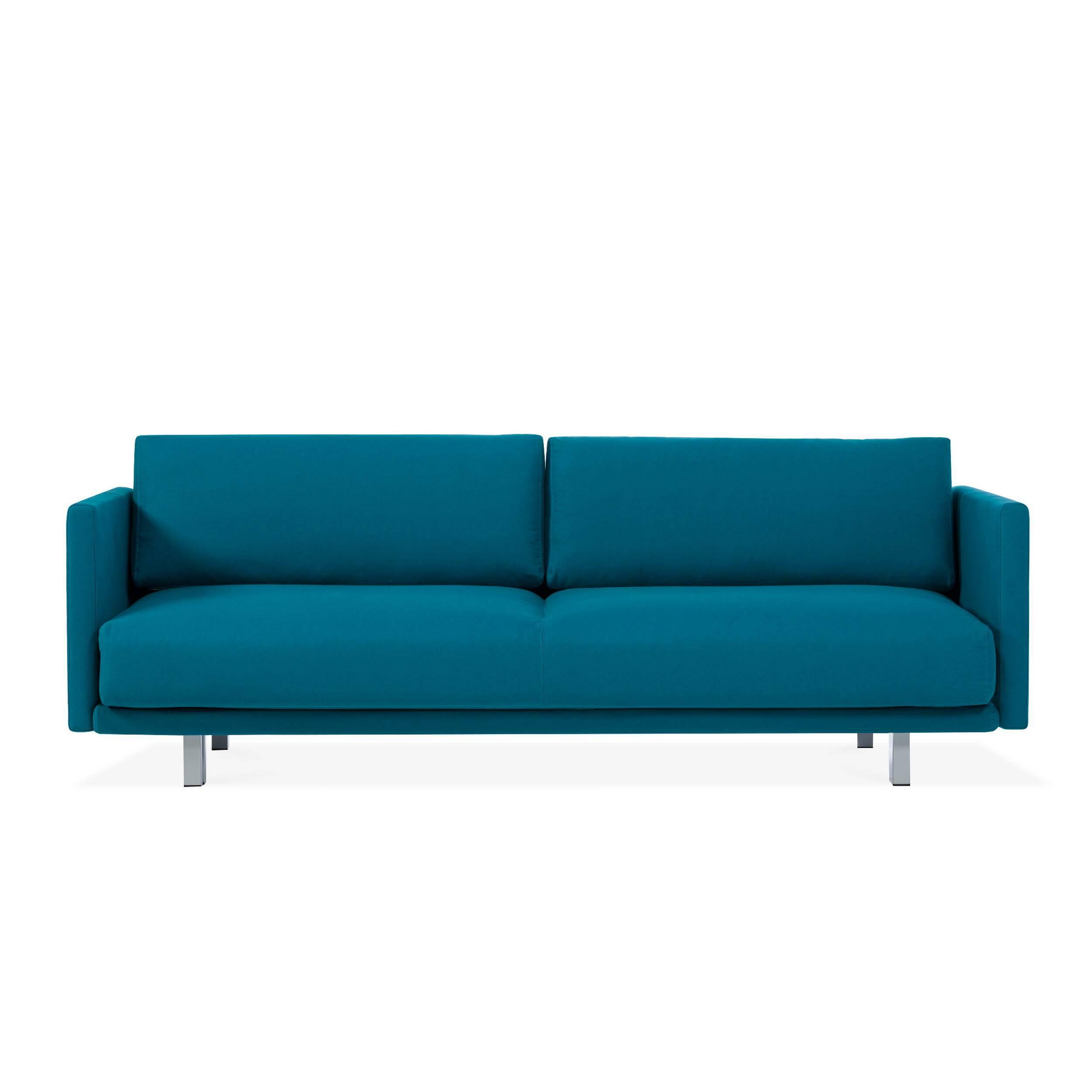 Диван MeghanРаскладные<br>Дизайнерский комфортный диван Meghan (Меган) с тканевой обивкой на высоких ножках от Softline (Софтлайн).<br><br><br> Новая коллекция Living от берлинского дизайнерского бюро MГјller &amp; Wulff предлагает отличные решения для молодых семей, школ и учреждений, которые ищут простой, стильный дизайн. Томас Мюллер и Йорг Вульфф, вдохновленные последними тенденциями, создают мебель, которая сочетает в себе форму, гибкость и функциональность. Такая мебель позволяет использовать пространство оптимал...<br><br>stock: 0<br>Высота: 76<br>Высота сиденья: 40<br>Глубина: 99<br>Длина: 214<br>Цвет ножек: Хром<br>Материал обивки: Хлопок, Полиакрил<br>Коллекция ткани: Eco Cotton<br>Тип материала обивки: Ткань<br>Тип материала ножек: Алюминий<br>Размер спального места (см): 200х123<br>Цвет обивки: Бирюзовый
