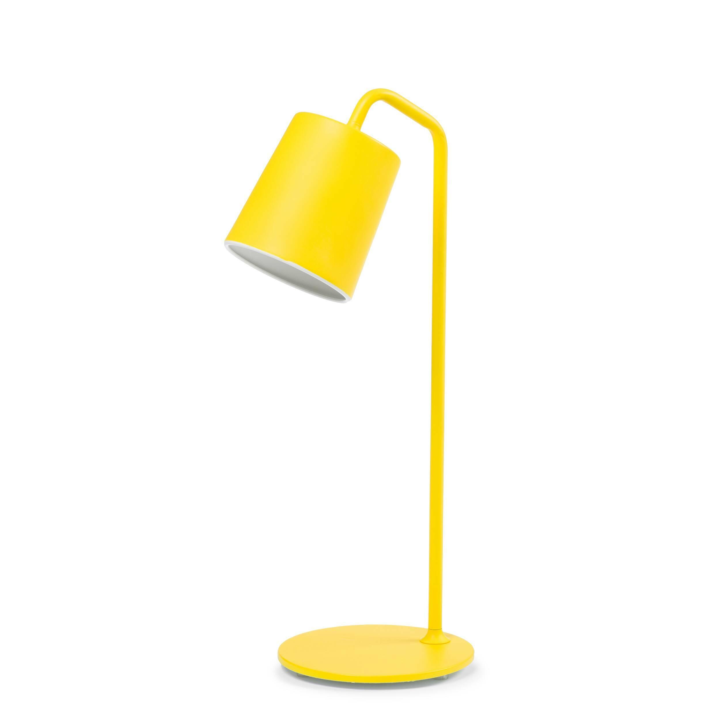 Настольный светильник HideНастольные<br>Для всех пуристов и ревнителей минимализма создан настольный светильник Hide без лишних деталей и украшений. Однако подойдет он и тем, кому не хватает изюминки в интерьере, благодаря позитивному ярко-желтому цвету абажура (в одной из вариаций). Для консерваторов есть черный и белый варианты.<br><br><br> Автор этой минималистичной и функциональной лампы из алюминия и металла — стокгольмец Томас Бернстранд, который продолжает традиции скандинавской школы с ее простотой и удобством, не зря он учи...<br><br>stock: 0<br>Высота: 57<br>Диаметр: 13<br>Количество ламп: 1<br>Материал абажура: Алюминий<br>Материал арматуры: Металл<br>Мощность лампы: 40<br>Ламп в комплекте: Нет<br>Напряжение: 220<br>Тип лампы/цоколь: E14<br>Цвет абажура: Желтый<br>Цвет арматуры: Желтый