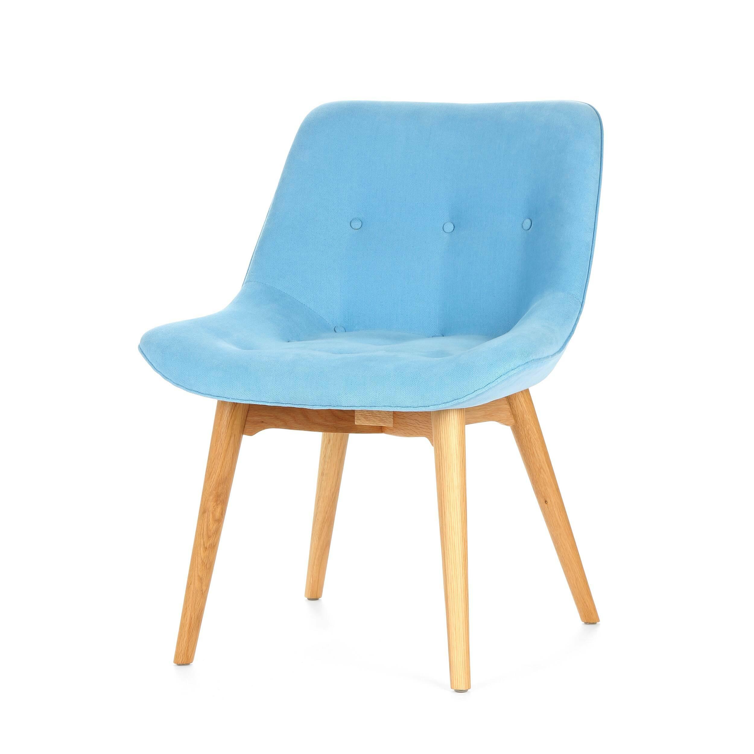 Стул BontempiИнтерьерные<br>Дизайнерский мягкий интерьерный стул Bontempi (Бонтемпи) без подлокотников на деревянных ножках от Cosmo (Космо).<br>При виде стула Bontempi невольно возникает желание провести по нему ладонью. Мягкая плюшевая обивка стула будто создана для того, чтобы создавать уют в любом помещении, где бы стул ни расположили.<br> <br> Абсолютная симметрия доставляет эстетическое удовольствие. Спокойные цвета конструкции и обивки подходят широкому спектру интерьеров различных стилей, в которых стул Bontempi смотр...<br><br>stock: 7<br>Высота: 78<br>Высота сиденья: 43<br>Ширина: 60<br>Глубина: 58,5<br>Цвет ножек: Белый дуб<br>Материал ножек: Массив дуба<br>Материал сидения: Хлопок, Лен<br>Цвет сидения: Голубой<br>Тип материала сидения: Ткань<br>Коллекция ткани: Ray Fabric<br>Тип материала ножек: Дерево