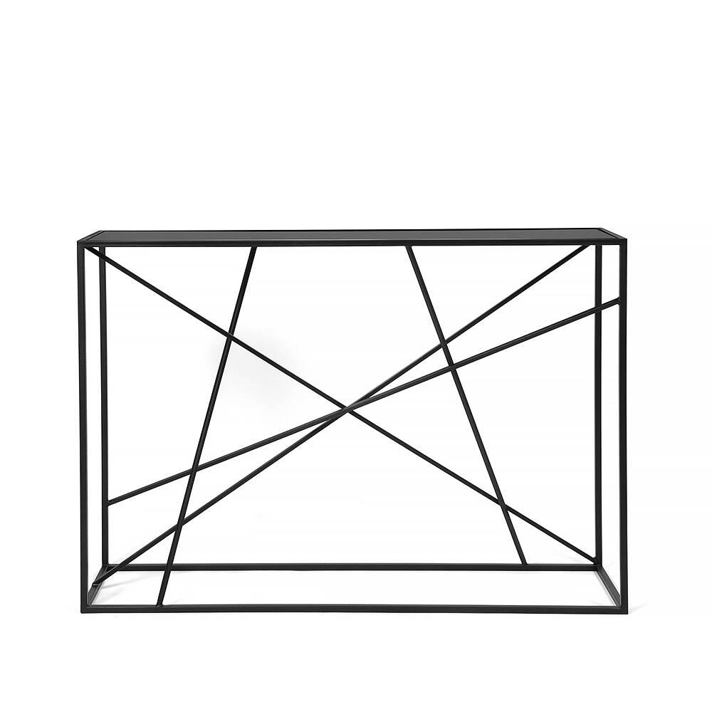 Консоль Wilson line black черное стекло