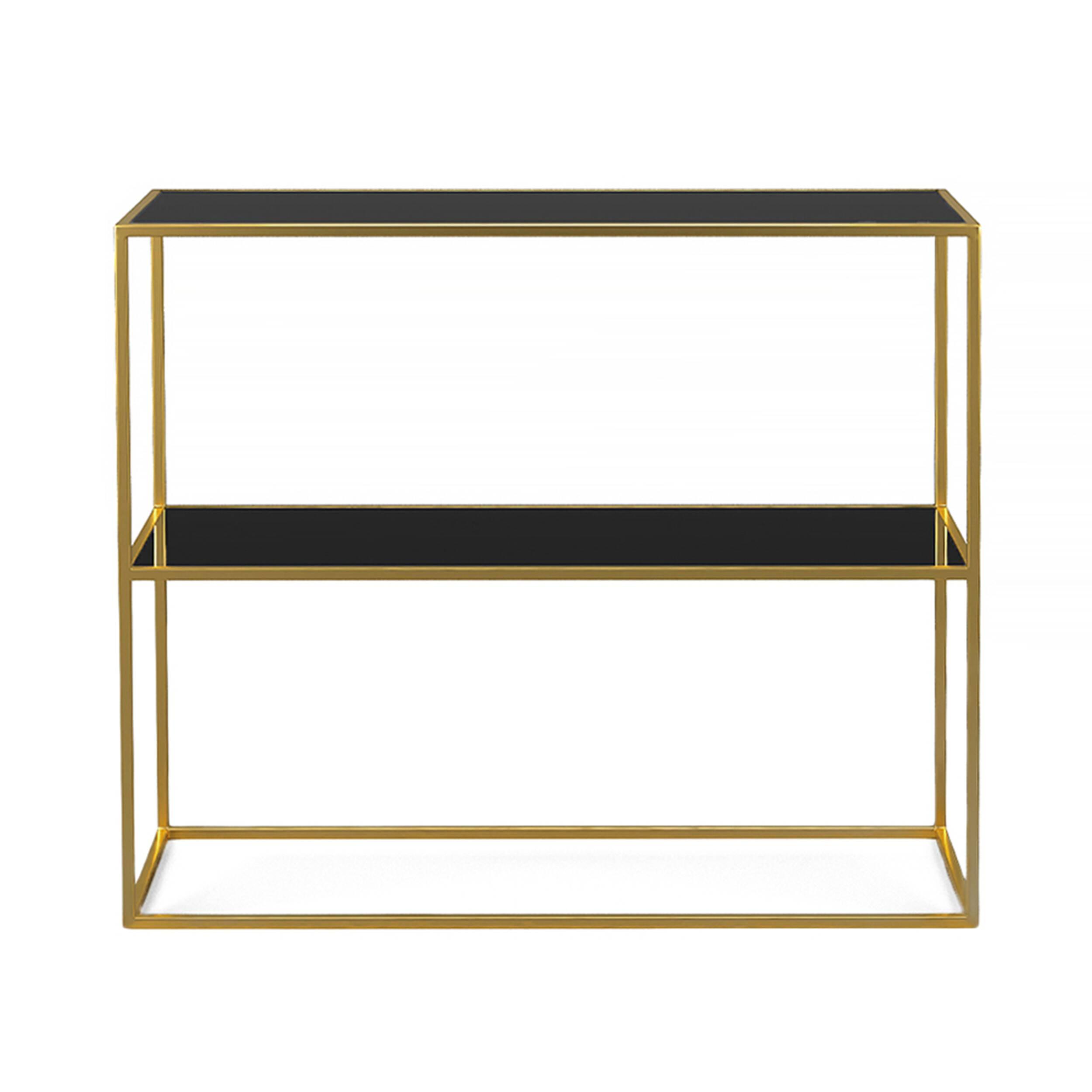 Стеллаж Rash gold черное стекло что можно в дьюти фри в домодедово
