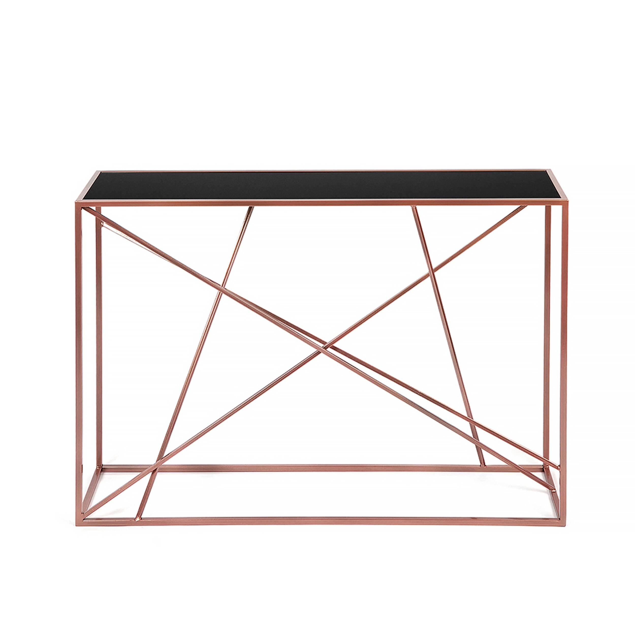 Консоль Wilson line copper черное стекло