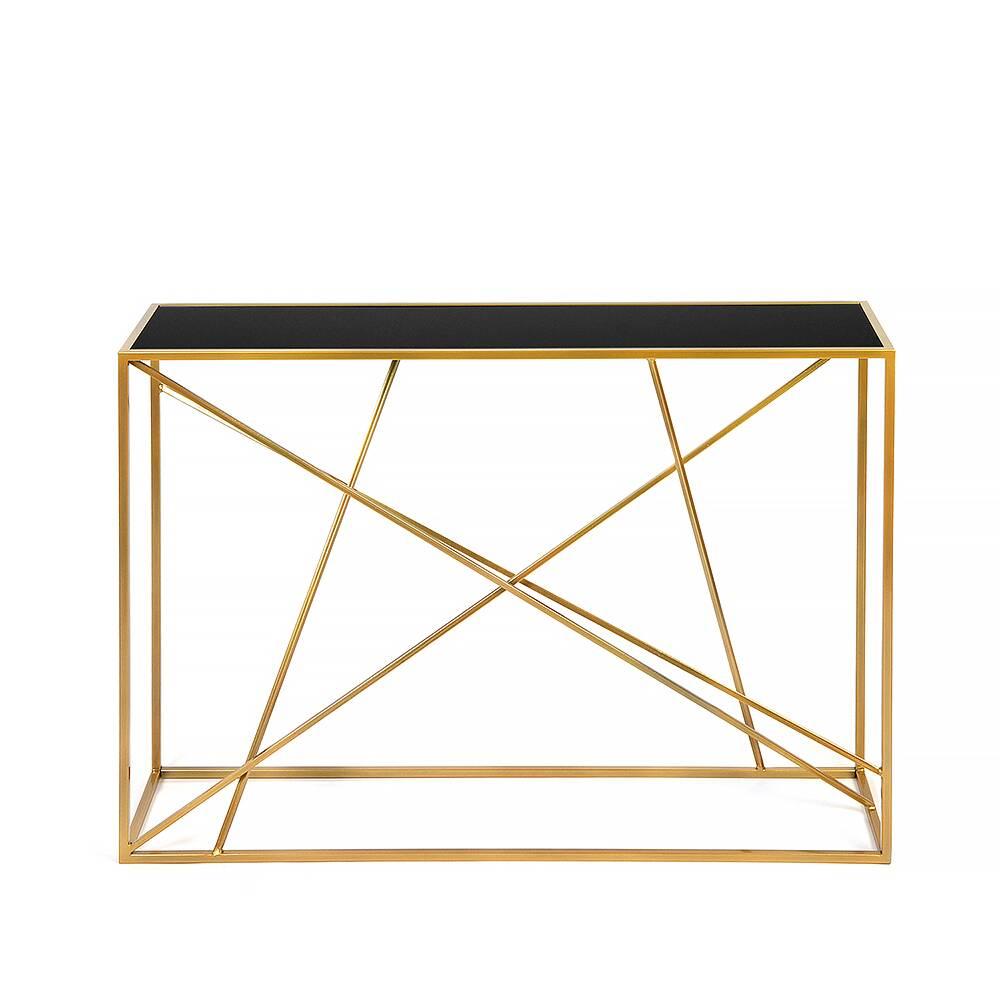 Консоль Wilson line gold черное стекло