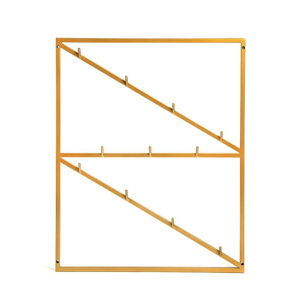 Настенная вешалка Zebe goldНастенные<br><br><br>stock: 0<br>Высота: 80<br>Ширина: None<br>Длина: 65<br>Материал каркаса: Сталь<br>Тип материала каркаса: Металл<br>Цвет каркаса: Золотой