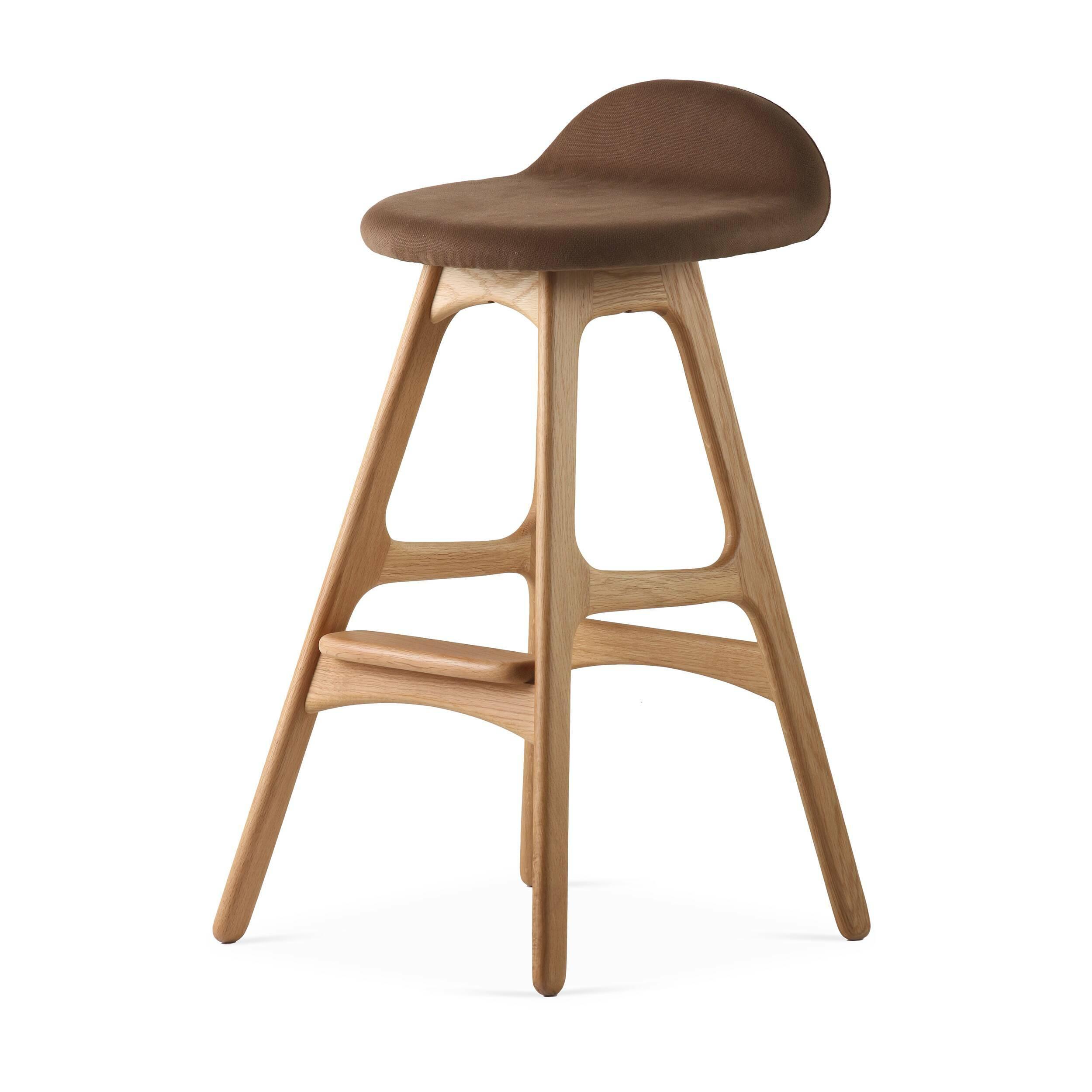 Барный стул Buch 2Полубарные<br>Мы говорим скандинавский модерн, подразумеваем целую плеяду дизайнеров-экспериментаторов, среди которых был и Эрик Бук. Мебель этого датчанина с 1957 года занимает прочные позиции в истории дизайна благодаря минималистичным обтекаемым формам, натуральным материалам — дереву, ткани и коже, практичности и функциональности.<br><br><br> Поклонников модного нынче экологичного образа жизни, да и просто любителей завтраков и ужинов на траве, наверняка привлечет знаменитый барный стул Buch 2. Он появи...<br><br>stock: 11<br>Высота: 75,5<br>Высота сиденья: 65<br>Ширина: 40<br>Глубина: 45<br>Цвет ножек: Дуб<br>Материал ножек: Массив дуба<br>Материал сидения: Хлопок, Лен<br>Цвет сидения: Коричневый<br>Тип материала сидения: Ткань<br>Коллекция ткани: Ray Fabric<br>Тип материала ножек: Дерево