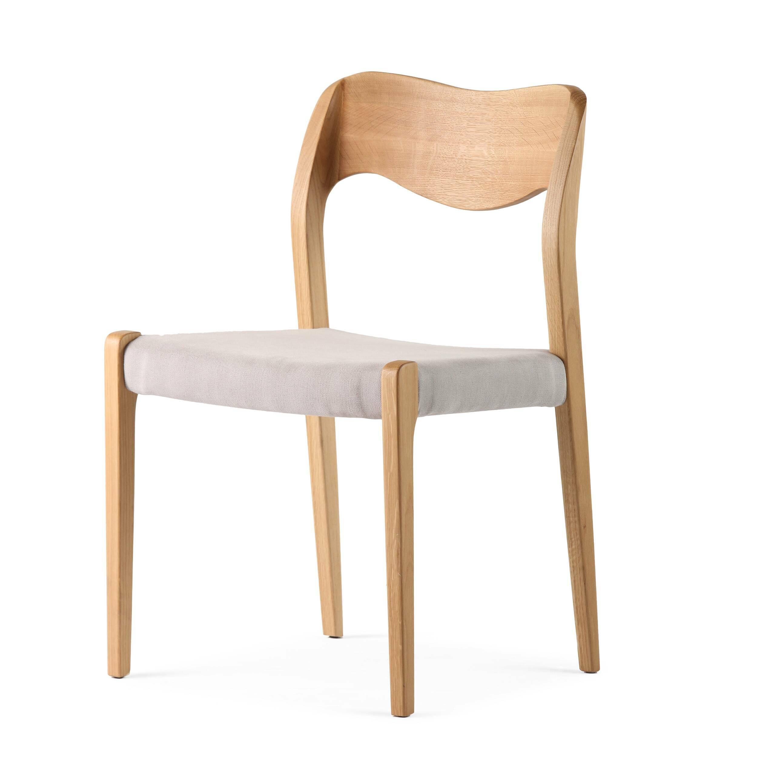 Стул WideИнтерьерные<br>Дизайнерский стул Wide (Уайд) с каркасом из дерева от Cosmo (Космо).<br> Стул Wide вполне претендует на звание эталонного, в нем есть все, что нужно идеальному предмету интерьера. Лаконичный дизайн, плавные линии, четкая геометрия — такой стул легко впишется в любой интерьер, каким бы авангардным он ни был. Ну а для пространств, оформленных в стиле скандинавского минимализма, оригинальный стул Wide просто незаменим.<br><br><br> Кожаная обивка сиденья не только повышает комфорт, но и придает лоск — т...<br><br>stock: 1<br>Высота: 78,5<br>Ширина: 50<br>Глубина: 50,5<br>Материал каркаса: Массив дуба<br>Тип материала каркаса: Дерево<br>Материал сидения: Хлопок, Лен<br>Цвет сидения: Светло-серый<br>Тип материала сидения: Ткань<br>Коллекция ткани: Ray Fabric<br>Цвет каркаса: Белый дуб