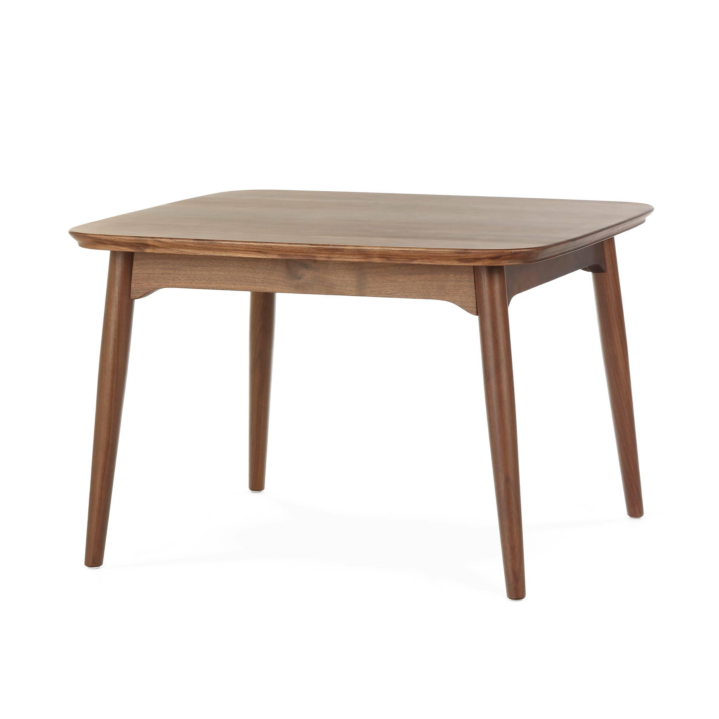 Кофейный стол Dad квадратный малый высота 50Кофейные столики<br>Дизайнерский квадратный деревянный кофейный стол Dad (Дэд) с высотой 50 см обычной формы от Cosmo (Космо).<br><br><br> Представленный здесь строгий и элегантный кофейный стол Dad квадратный малый высота 50, созданный американским дизайнером и архитектором с мировым именем Шоном Диксом, сочетает в себе оттенок традиционной классики и современную простоту. Имеется в двух вариантах: из белого дуба и американского ореха. Эти материалы по праву считаются одними из лучших в производстве мебели, благод...<br><br>stock: 2<br>Высота: 50<br>Ширина: 75<br>Длина: 75<br>Цвет ножек: Орех американский<br>Цвет столешницы: Орех американский<br>Материал ножек: Массив ореха<br>Материал столешницы: Фанера, шпон ореха<br>Тип материала столешницы: Фанера<br>Тип материала ножек: Дерево