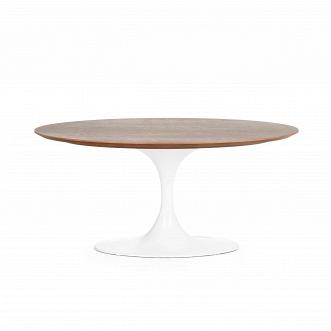 Кофейный стол Tulip с деревянной столешницей высота 41