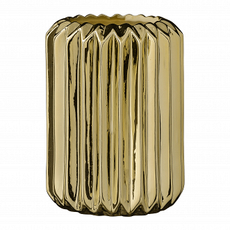 ВАЗА FLUTED GOLD