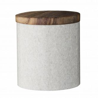 Емкость для хранения Bloomingville мраморная с деревянной крышкой