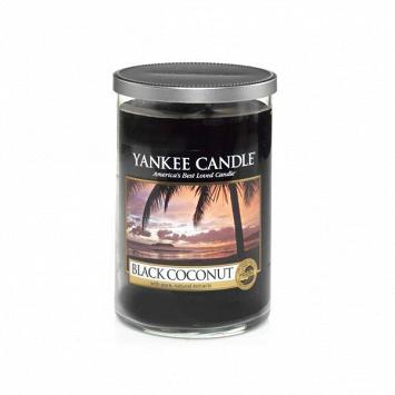 Свеча средняя в стеклянном стакане Black Coconut