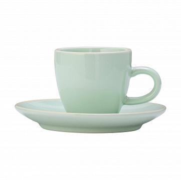 Чашка с блюдцем Bloomingville зеленая