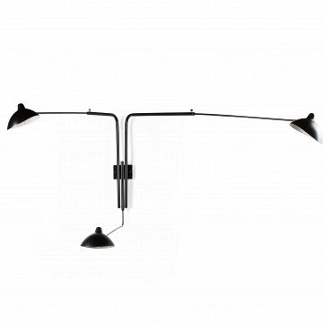 Настенный светильник Sconce Mouille 3 лампы