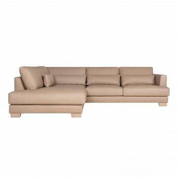 Угловой диван Brandon левосторонний кожаный длина 295
