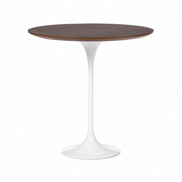 Кофейный стол Tulip с деревянной столешницей высота 52