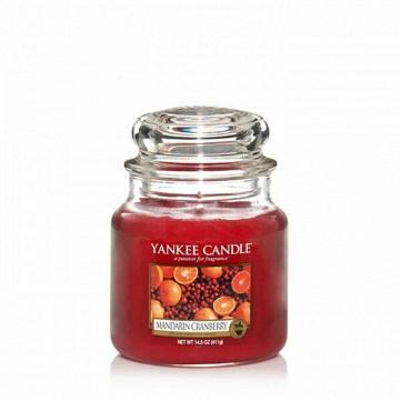 Свеча средняя в стеклянной банке Mandarin Cranberry