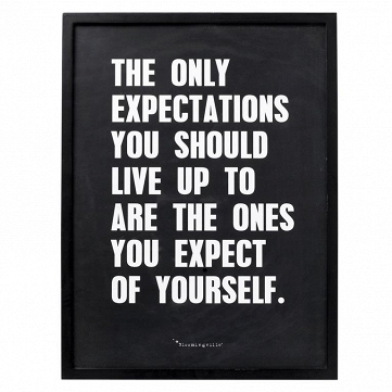 Постер в рамке Bloomingville The Only Expectations