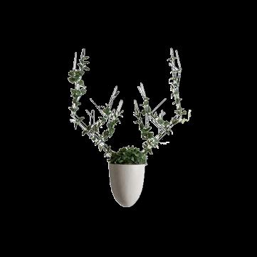 Настенная ваза с каркасом для плетения Menagerie Deer