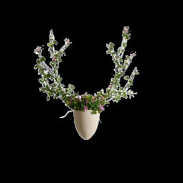Настенная ваза с каркасом для плетения Menagerie Elk