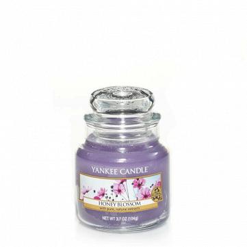 Свеча маленькая  в стеклянной банке Honey blossom
