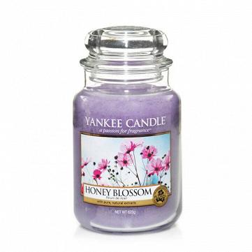 Свеча большая в стеклянной банке Honey Blossom