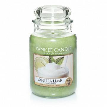 Свеча большая  в стеклянной банке Vanilla Lime