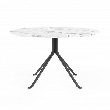 Обеденный стол Blink с каменной столешницей диаметр 120