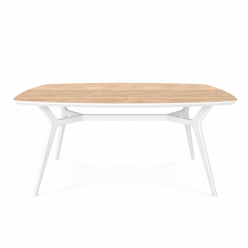Обеденный стол Johann дуб, белый