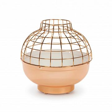 Дизайнерский розово-золотой настольный светильник