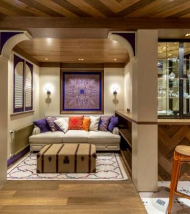 Проект «Гостиная с фиолетовым кантом» при участии Cosmorelax